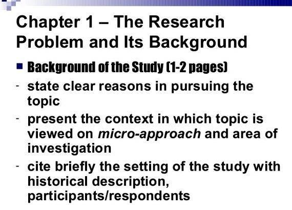 Write background study thesis proposal that get cited and