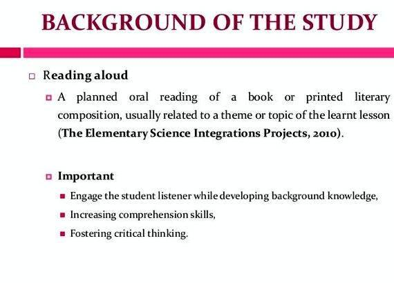 Write background study thesis proposal you demonstrate that