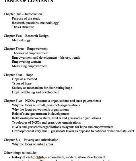 Write contents page dissertation proposal automatic and