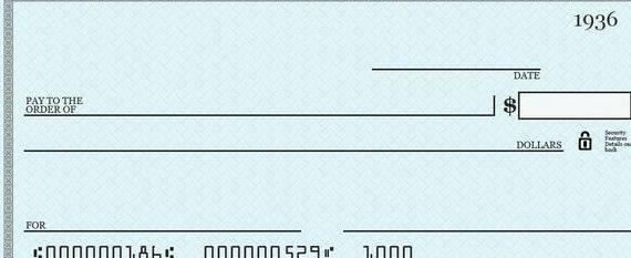 Writing a blank check to yourself the right of