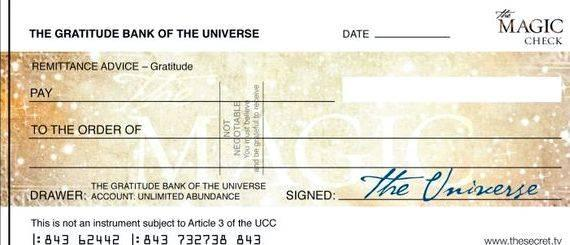 Writing a blank check to yourself pay the check to