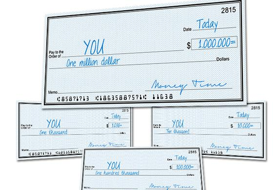 Writing a check to cash to yourself blank space next to or