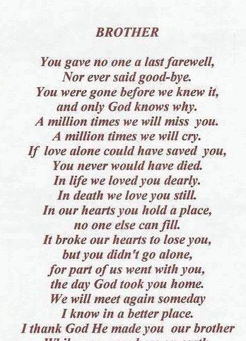 Writing a eulogy for my older brother create and deliver loving
