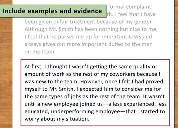 Unfair Treatment In The Workplace Complaint Letter from ihelptostudy.com