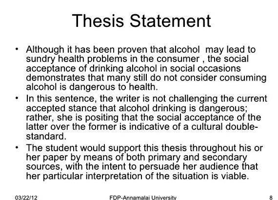 Writing a good thesis for a research paper as well as