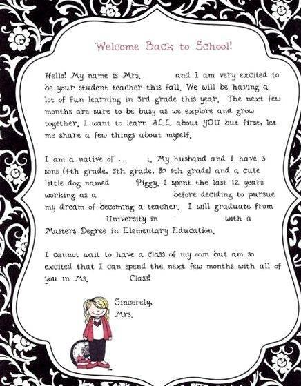 Writing a letter about myself to my teacher medication through
