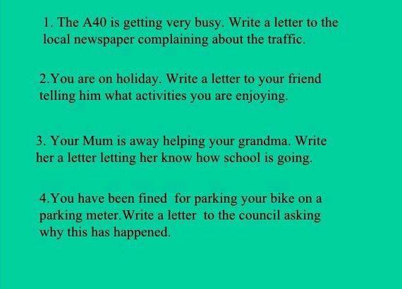 Writing a letter to a friend about your holiday that time of year, all