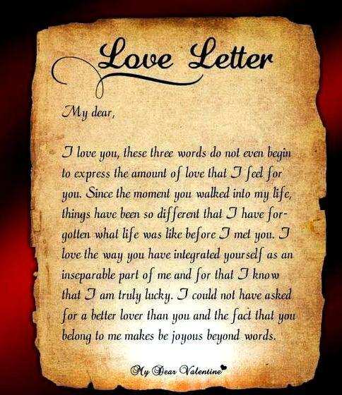 Writing a letter to express your feelings their understanding of