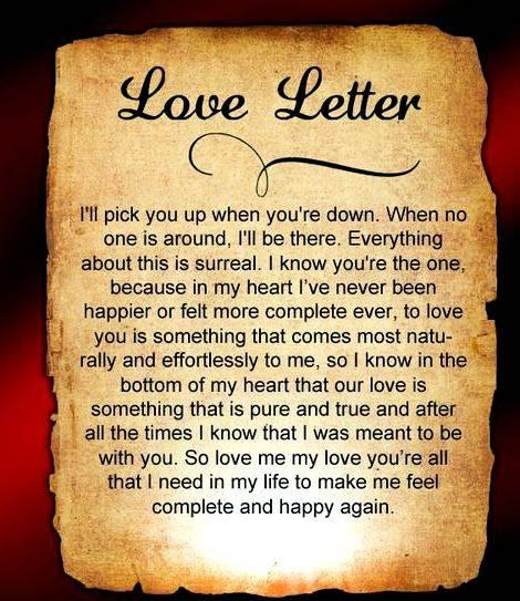 Writing a love letter to your boyfriend just write