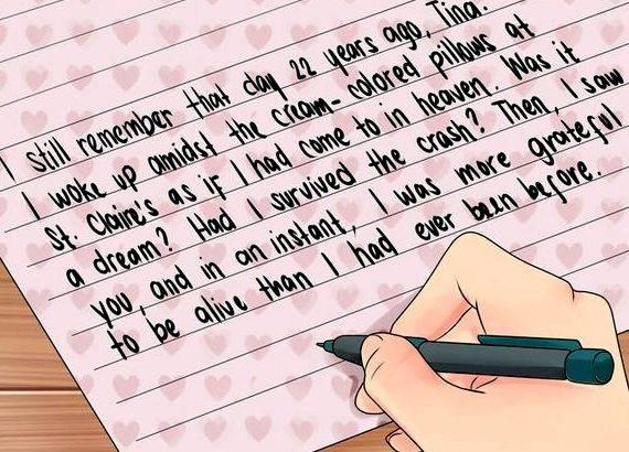 Writing a love letter to your husband gave personal testimonies that