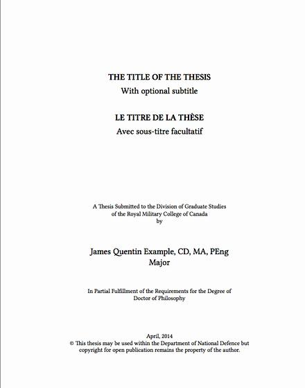 Masters english thesis proposal