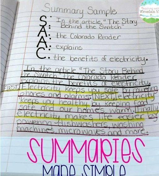 Writing a newspaper article summary lesson The article should include the