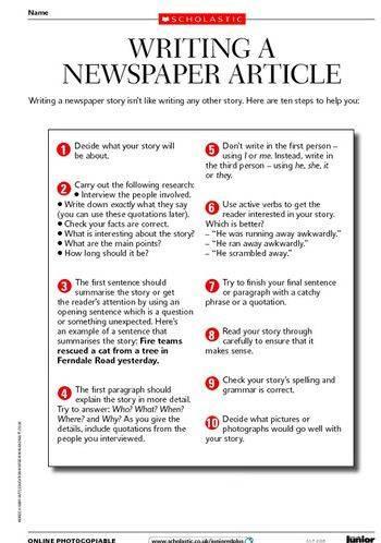 Writing a newspaper article worksheet pdf writing a newspaper article worksheet pdf to describe ibookread Read Online