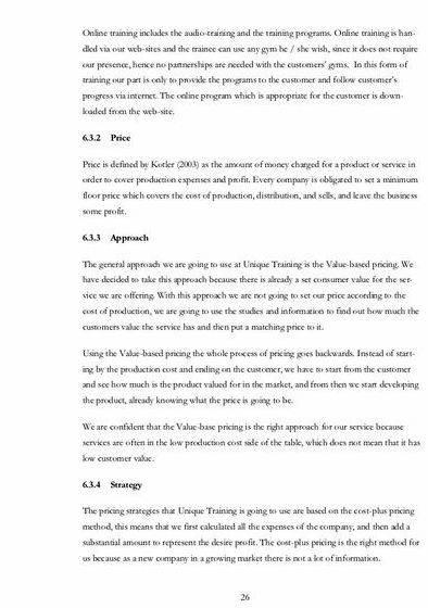 Writing a personal training business plan our teaching