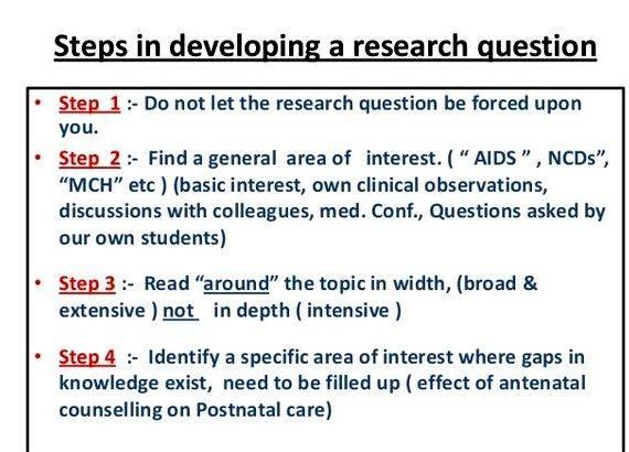Writing a research question and hypothesis testing research questions to
