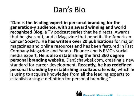 Writing a short professional bio on yourself introduction to who you are