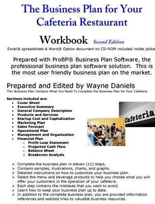 Writing a successful business plan for a restaurant study the market through