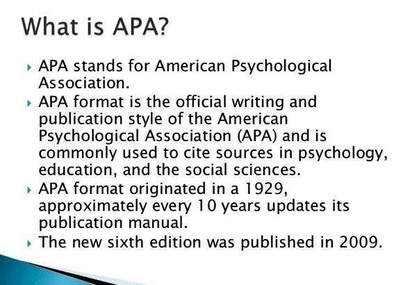 writing a thesis apa style