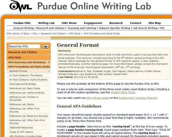 Writing a thesis purdue owl question and an answer