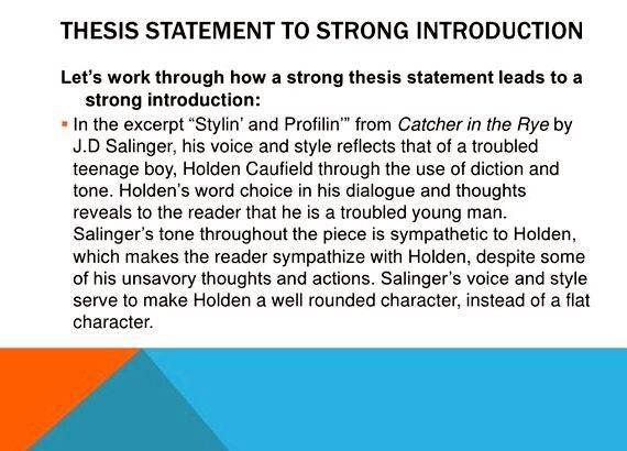 Writing an effective thesis introduction specific example or story