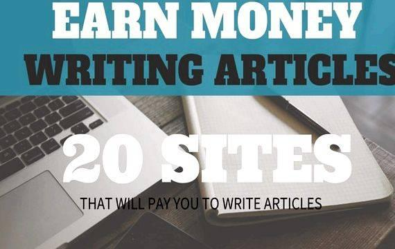 Writing articles for pay online work for less