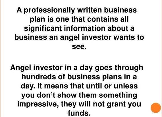 Writing business plan for angel investors with an Investor