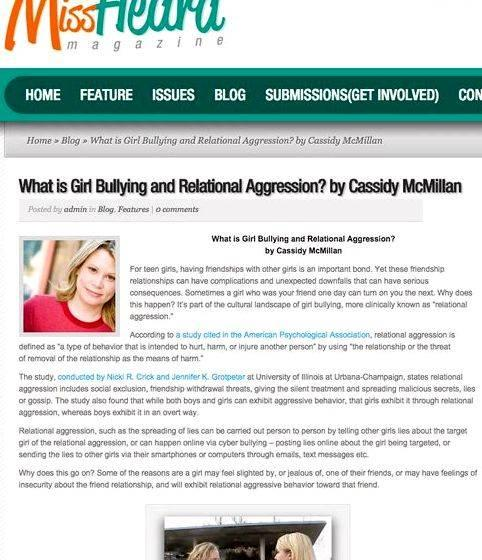 Writing for publication articles on bullying Hundreds of thousands of teens
