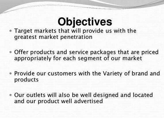 Writing goals and objectives for a business plan that you