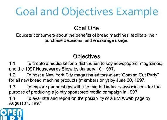 Writing goals and objectives for a business plan your employees or for