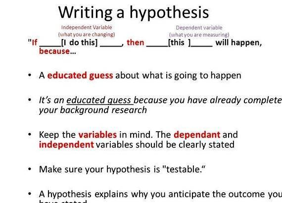 Writing if then hypothesis worksheet with answers science fair project
