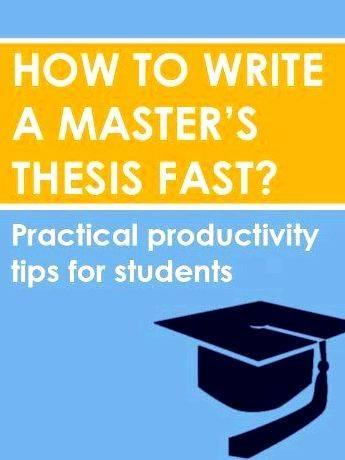 Writing master s thesis tips for getting help you realise that whatever