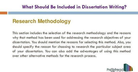 Masters dissertation services methodology