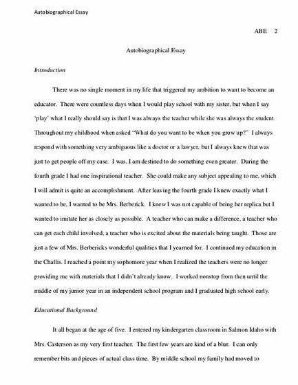 How To Write An Essay In Apa Format For College  Class Essay also Essay About Spring Season Writing My Autobiography Essay Titles Importance Of Voting Essay