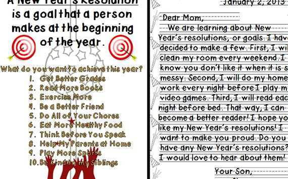 Writing new years resolutions with your students Year resolutions        Health