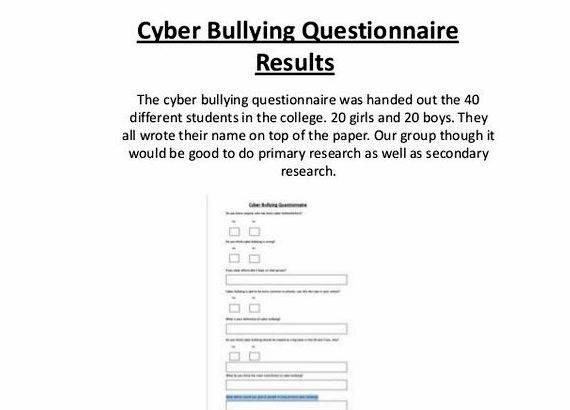 Writing questionnaires for dissertations on bullying begin assisting you