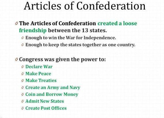 Writing solutions to the articles of confederation text the ratification of all the