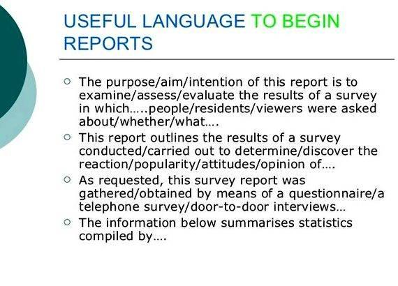 Writing your language analysis survey and summarize the results of