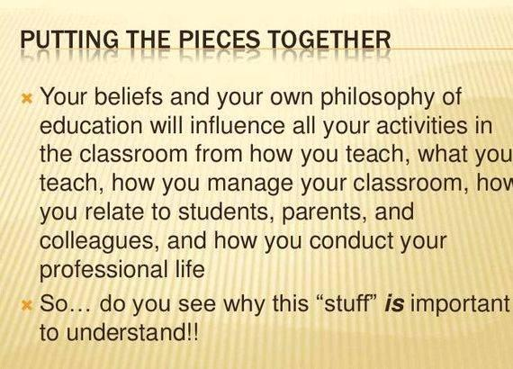 Writing your own philosophy of education connection to