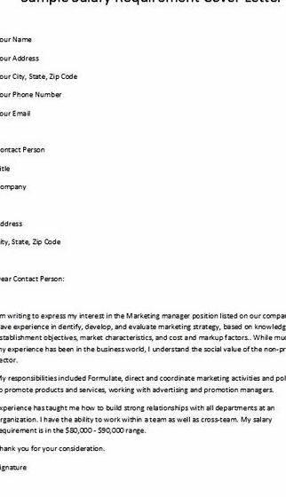 Writing your salary requirements cover for How to ask for salary requirements in cover letter