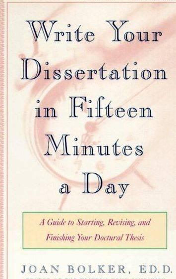Writing your thesis in 15 minutes a day us dissertation writing