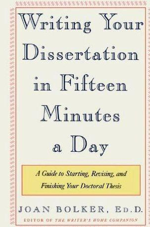 Writing your thesis in 15 minutes a day work writers will work